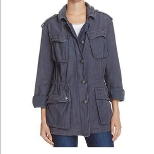 Charcoal Free People Military/Utility Jacket
